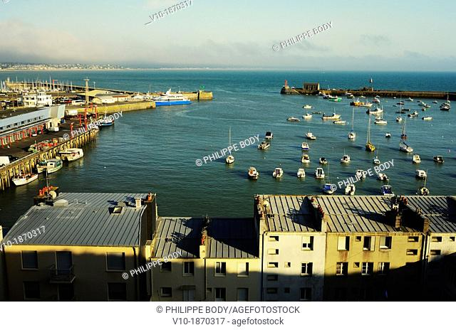 France, Normandy, Manche, Granville, the port