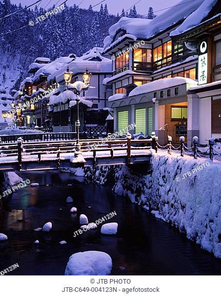Ginzan Hot spring, Night View, Obanazawa, Yamagata, Japan