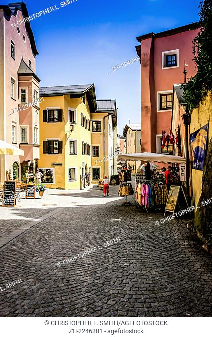 Rattenberg main street in South Bavaria Germany