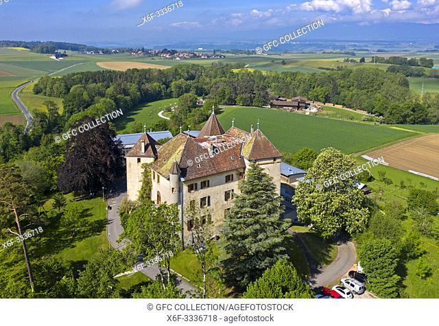Castle St Barthelemy, Chateau de Saint-Barthelemy, Saint-Barthelemy, Vaud, Switzerland
