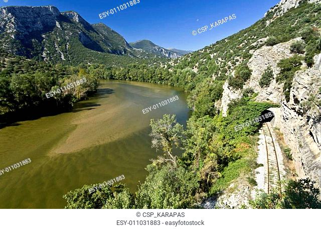 Nestos river at Thrace, Greece