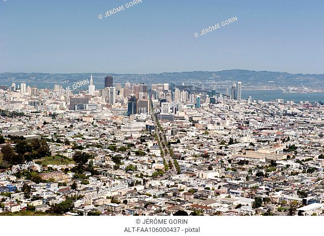 Aerial view of San Francisco, California, USA