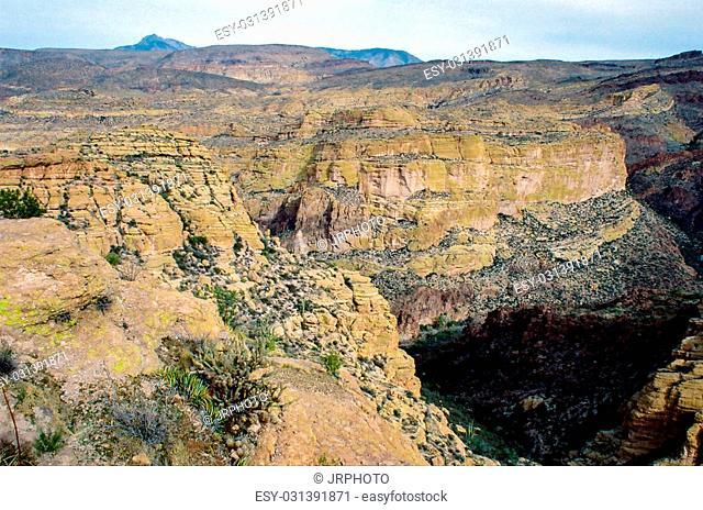 Huge canyon similar to the Grand Canyon in the desert in Arizona near Phoenix