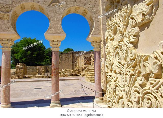 Ruins of Medina Azahara Palace, built by caliph Abd al-Rahman III, Cordoba, Andalusia, Spain