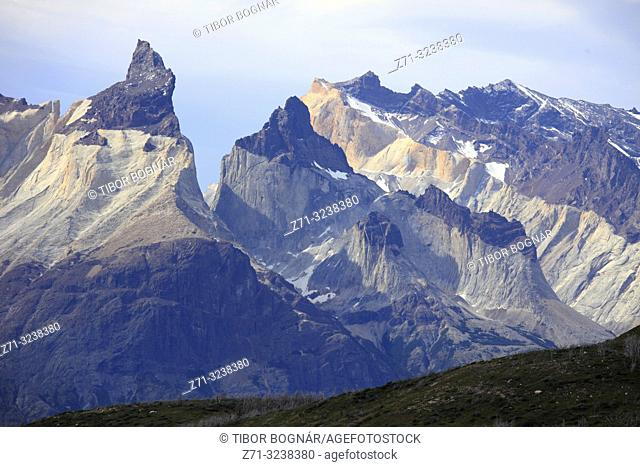 Chile, Magallanes, Torres del Paine, national park, Cuernos del Paine,