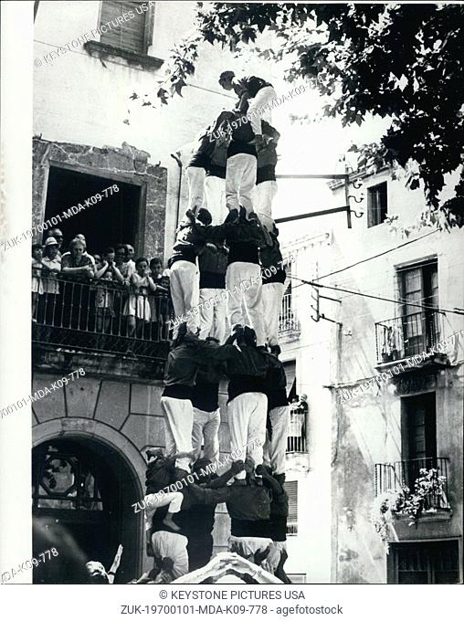 Jan. 1, 1970 - The Human Mountain: The group on the balcony look on in amazement, as 'Els nens de Venderll' (The Children of Vendrell) go up and up to form this...