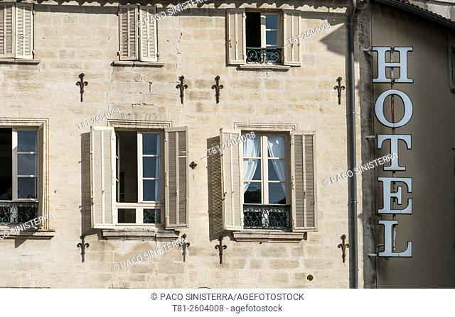 Hotel window in France