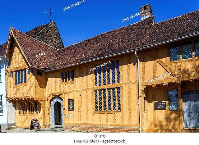 United Kingdom, British Isles, Great Britain, Europe, Britain, England, Suffolk, Lavenham, Little Hall, Timbered Building, Historical, Gabled, Architecture