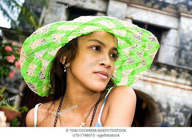 Young woman at Fort San Pedro, Cebu City, Philippines