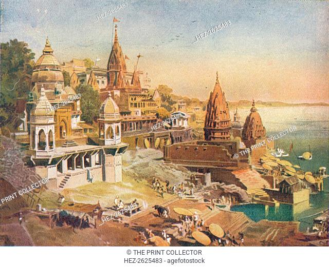 'The Sacred City of the Hindus: Benares on the Ganges', 1908. Artist: Unknown