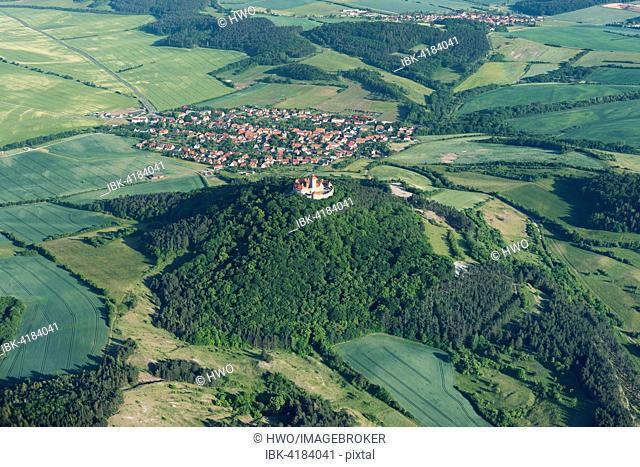 Wachsenburg Castle, Holzhausen behind, Thuringia, Germany