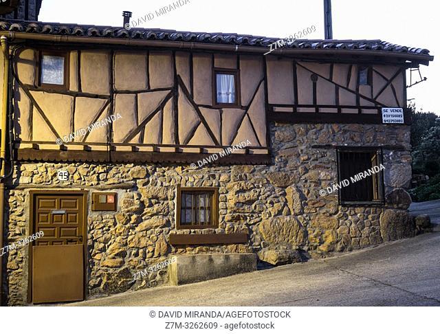 Arquitectura tradicional en Sequeros. Sierra de Francia. Salamanca. Castilla León. España