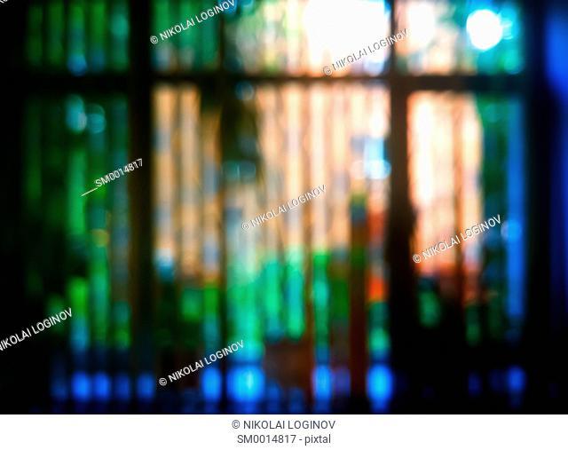 Horizontal summer window bokeh background hd