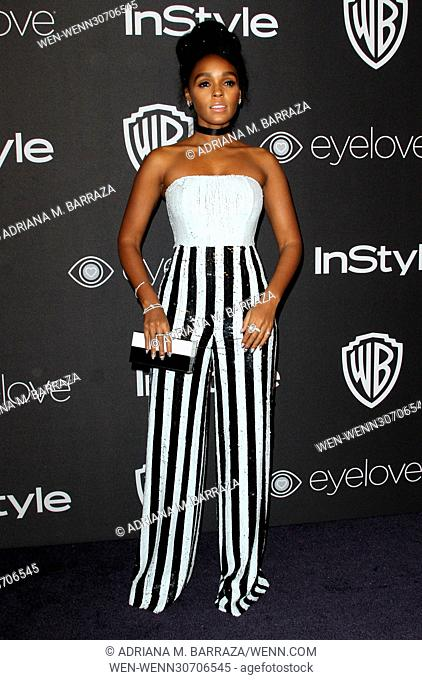 InStyle & Warner Bros. Pictures Golden Globes After Party 2017 held at the Beverly Hilton Hotel Featuring: Janelle Monae Where: Los Angeles, California