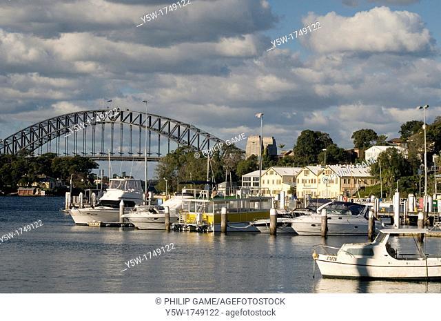Sydney Harbour Bridge from the suburb of Balmain