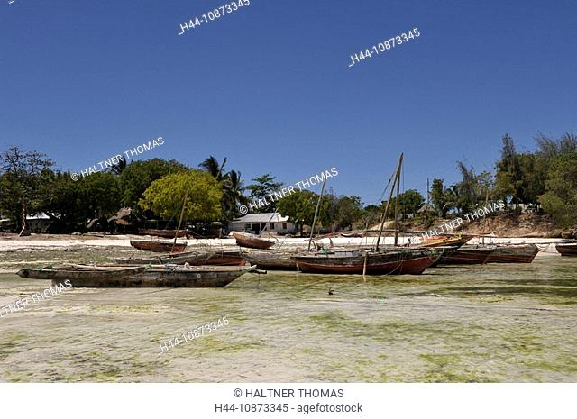 Africa,Tanzania,Tanzania,Zanzibar,east coast,Jambiani,fishing boats
