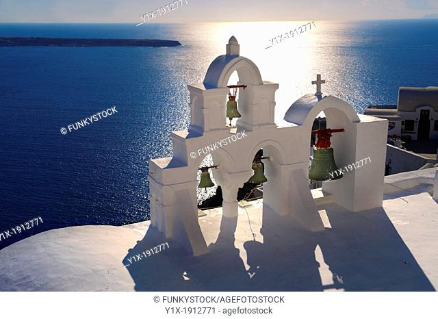 Oia, Ia Santorini - Byzantine Orthodax churches, - Greek Cyclades islands