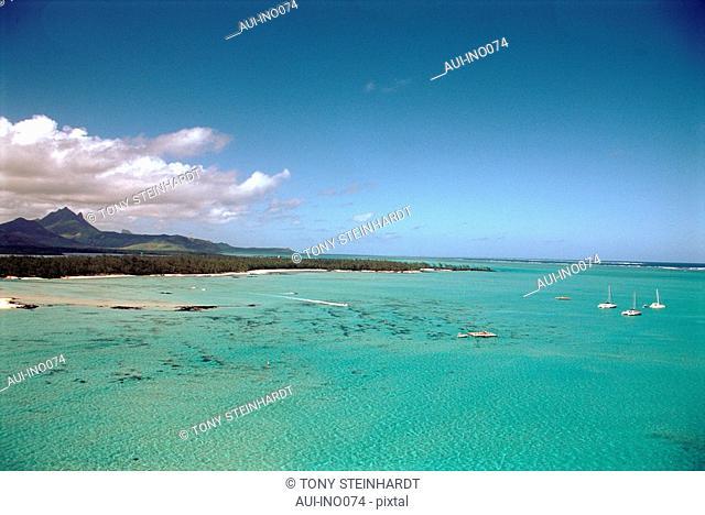 Mauritius - Ile aux Cerfs - lagoon - landscape