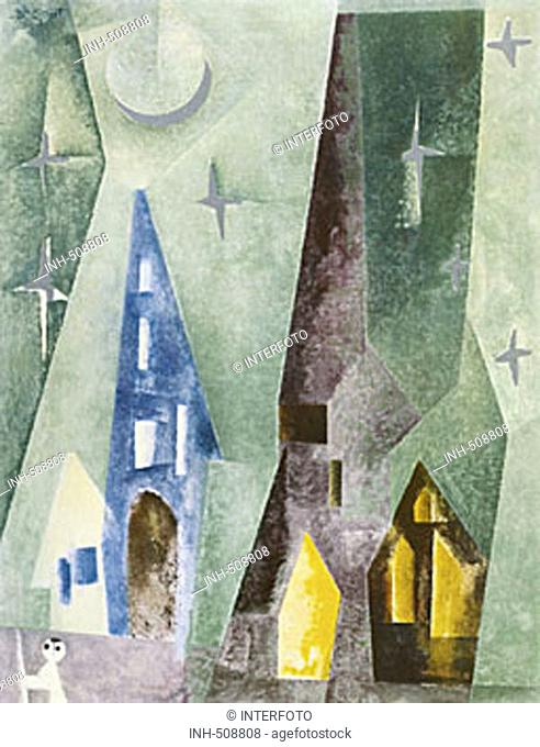fine arts, Feininger, Lyonel, (1871 - 1956), 'Silbersternenbild', ('silver star painting'), oil on canvas, private property, Europe, 20th century, Cubism