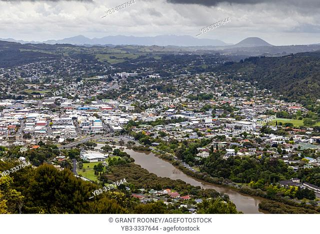 An Elevated View Of The City Of Whangarei, North Island, New Zealand