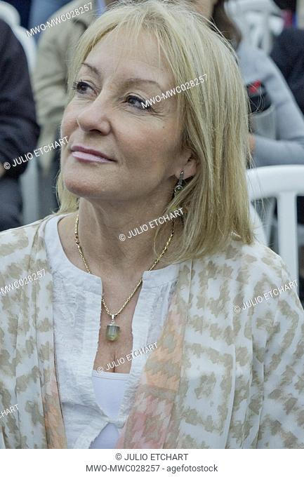 Presidential candidate Carolina Cosse at the 35th Anniversary of Rio de Libertad (River of Freedom) rally in Montevideo, which was a turning point for the...