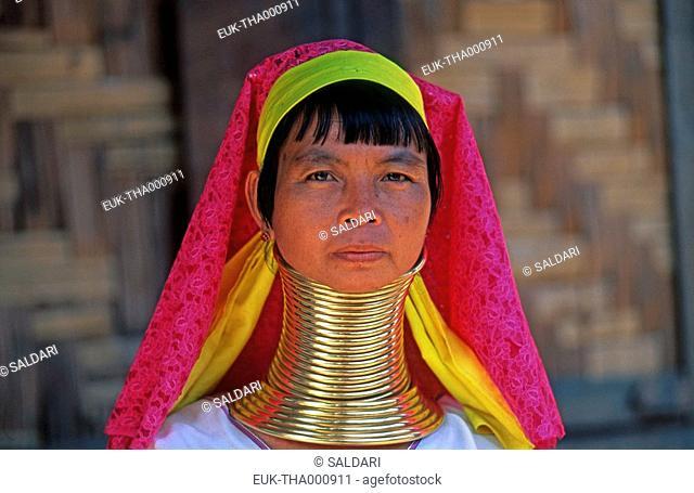 Woman giraffe, Padong tribe, North Thailand