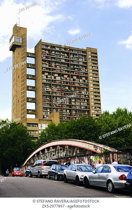 Trellick Tower, seen from Golborne Road - London