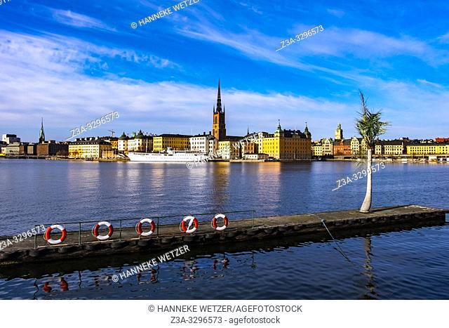Scenic panorama of the Old Town (Gamla Stan) in Stockholm, Sweden