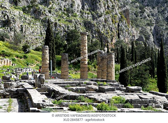 the Temple of Apollo, Delphi,Greece