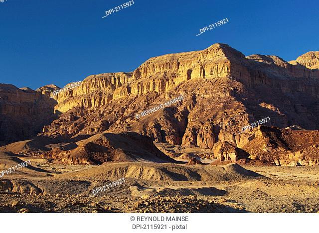 Cliffs in the timna valley, timna park arabah israel