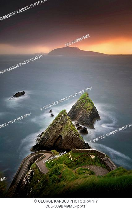 Dunquin Pier, Great Blasket Islands in background, Ireland