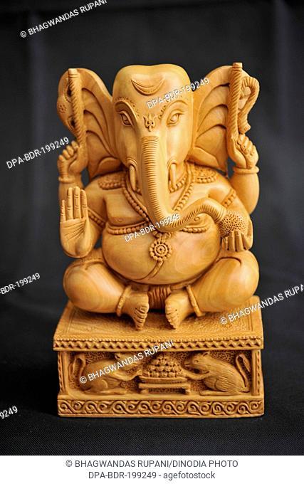sandalwood ganesha statue, jaipur, rajasthan, Asia, India