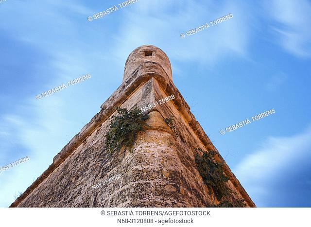 Bastio de Sant Ferran, Alcudia walls, Majorca, Balearic Islands, Spain