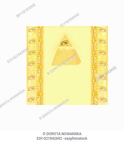 Ancient Pyramid Eye Design