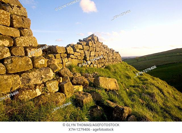 Hadrian's Wall at Steel Rigg, Northumberland, England