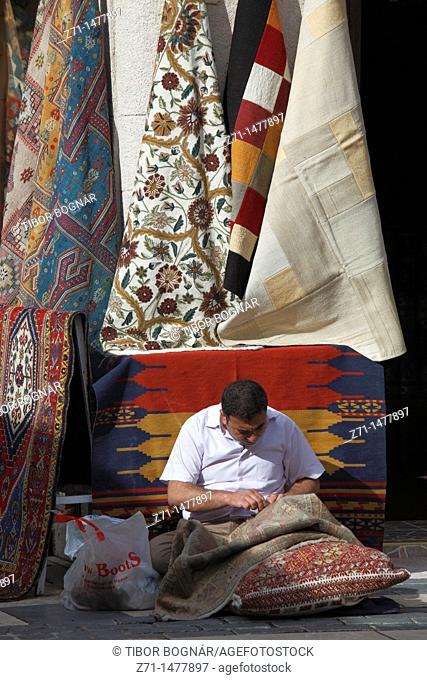 Turkey, Antalya, carpet maker, handicraft