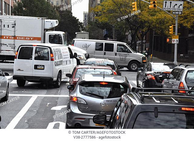 Traffic in downtown New York