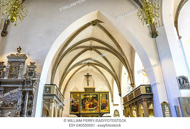 Saint Mary's City Church Stadtkirche Lutherstadt Wittenberg Germany. Martin Luther's church. Founded in 1187, restored in 1900s