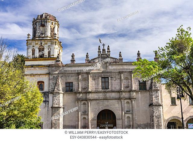 San Juan Bautista Church Mexico City Mexico. established 1592, one of the three oldest churches in Mexico City