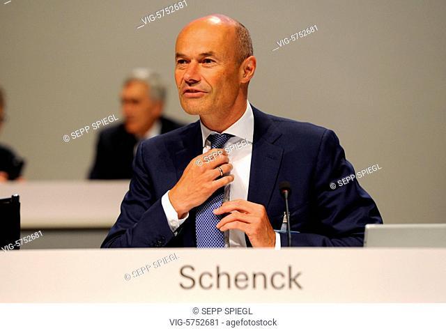 Germany, Frankfurt, 18.05.2017 Dr. Marcus SCHENCK, Finanzvorstand, vor der Hauptversammlung - Frankfurt, , Germany, 18/05/2017