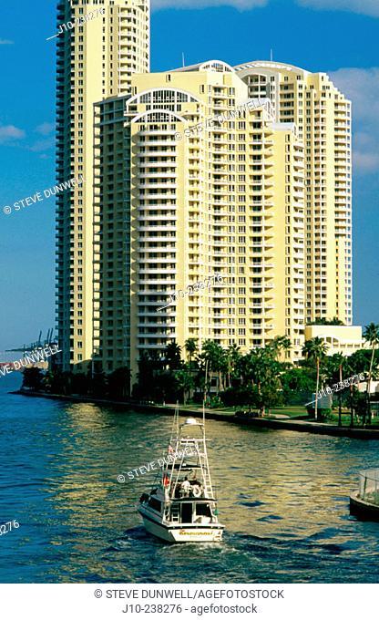 Condos on Brickell Key. Miami. Florida. USA