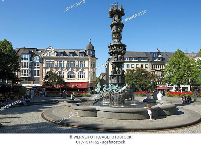 Germany, Koblenz, Rhine, Moselle, Maifeld, Eifel, Hunsrueck, Westerwald, Rhineland-Palatinate, old city, Josef Goerres Square