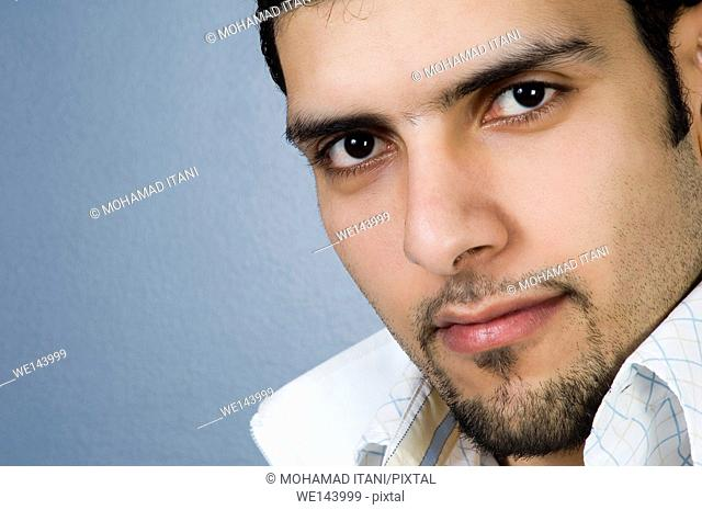 Young man with a goatee