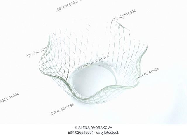 decorative fruit or salad glass bowl
