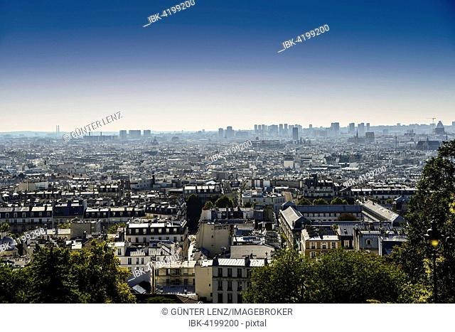 View of Paris from Montmartre, Île-de-France, France