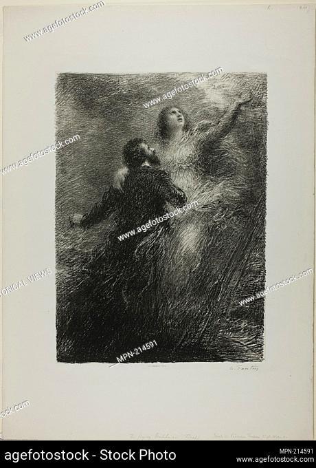 Finale of the Flying Dutchman, second plate - 1885 - Henri Fantin-Latour French, 1836-1904 - Artist: Henri Fantin-Latour, Origin: France, Date: 1885