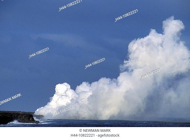 Kilauea Volcano, eruption flowing into the ocean, Big island, USA, America, United States, North America, Hawaii