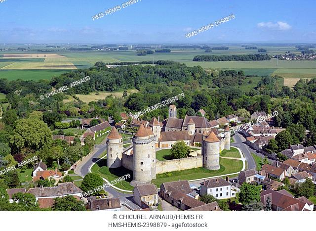France, Seine et Marne, Blandy les Tours, the castle (aerial view)