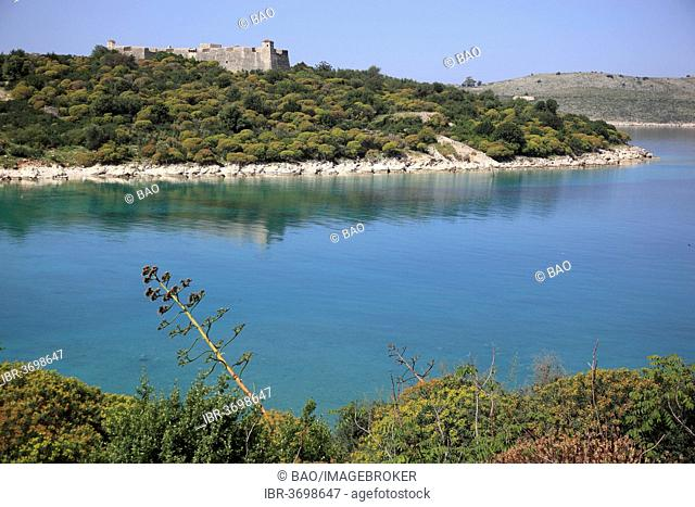 Fortress of Ali Pasha Tepelene, bay on the Ionian Sea, Porto Palermo, Vlorë County, Albania