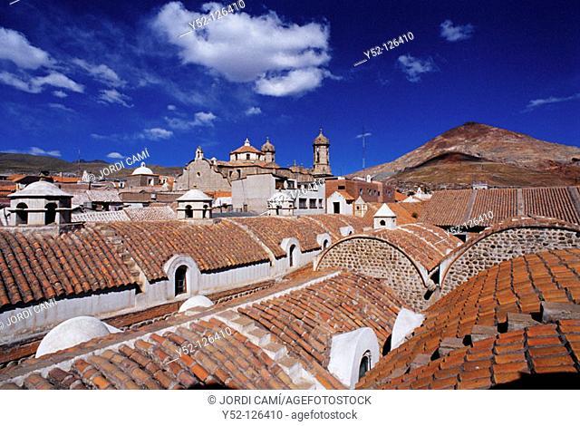 Casa de la Moneda (former Royal Mint) and The Cathedral. Potosí. Bolivia